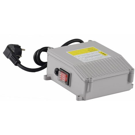 Agora-Tec® Motorschutz schalter box grau 40µF 10A für Tiefbrunnenpumpe