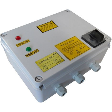 Agora-Tec® Motorschutzschalterbox 400V/750W für 3 Zoll Tiefbrunnenpumpe 750W-400V