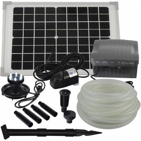 Agora-Tec® Solar Bachlauf - Pumpen - Set mit Akku und LED Licht AT-10W-BLH-V2.0_monokristallin