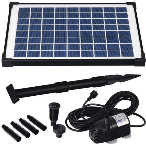 Agora-Tec® Solar Springbrunnenpumpen Teichpumpen - Set AT - 10 W