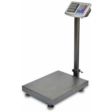 AgoraDirect - Balance Industrielle 300kg/50g, Affichage Numérique Lcd Double Face, Pliable, Grande Plate-forme En Acier Renforcé 40x50cm, Autonomie De La Batterie 40h, Balance Postale