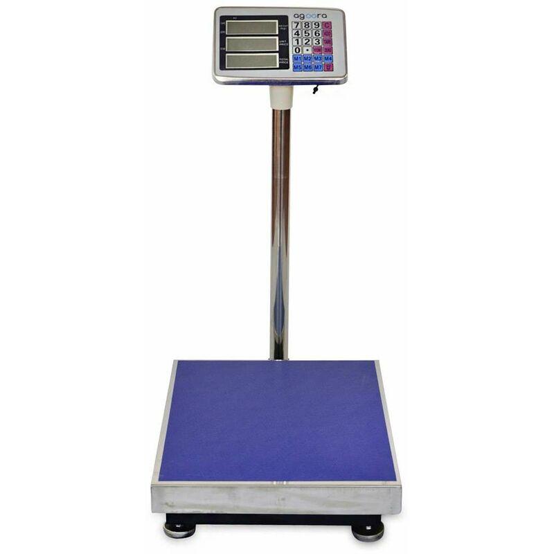 Image of Bilancia Industriale 300kg/50g, Display LCD Digitale, Bilancia A Piattaforma In Acciaio Inox 50x40cm, Bilancia Pesapacchi Per Magazzini - Agoradirect