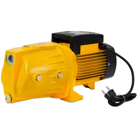 "AgoraDirect - Garden Water Pump 900W, 4.44m3/h, Cast Iron, Max Depth 50m, 1"", Electric Cable 85cm, 2850RPM, IPX4, Electric Pump, Brass Impeller, Self Priming Pump, 220V Electric Jet Pump"