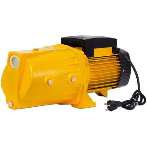 """Agoradirect - Garten Pumpe 1100W, 5.58m3/h, Gusseisen, Max. Tiefe 50m, Elektrokabel 85cm, 1,2"""", 2850RPM, IPX4, Elektropumpe, Messinglaufräder, Wasserpumpe"""