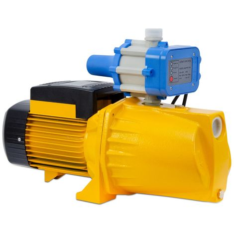 """Agoradirect - Garten Pumpe 1100W, 5.58m3/h, Gusseisen, Max. Tiefe 50m, Elektrokabel 85cm, 1.2"""", 2850RPM, IPX4, Elektropumpe, Messinglaufräder, Wasserpumpe Mit Druckschalter"""