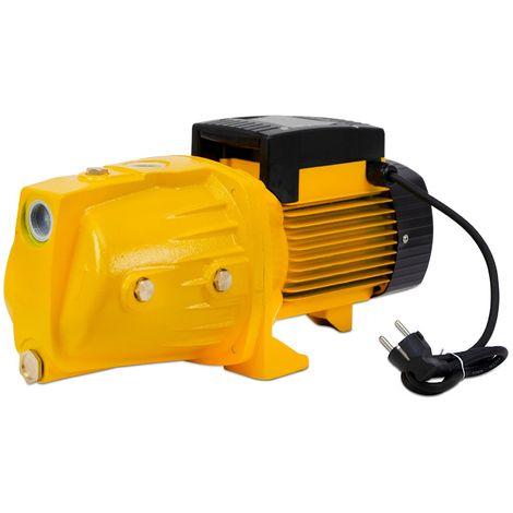"""Agoradirect - Garten Pumpe 900W, 4.44m3/h, Gusseisen, Max. Tiefe 50m, Elektrokabel 85cm, 1"""", 2850RPM, IPX4, Elektropumpe, Messinglaufräder, Wasserpumpe"""