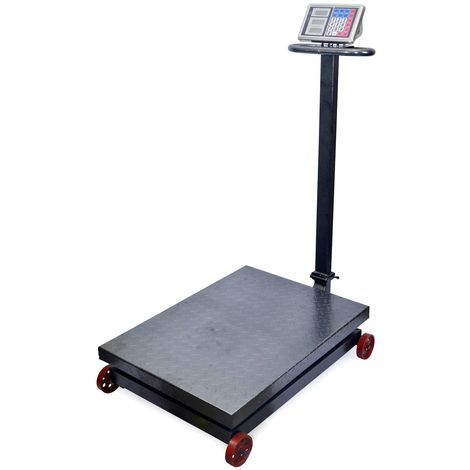 AgoraDirect - Industrial Scale 1000kg/200g, Double Sided Digital LCD Display, Foldable, Large Reinforced Steel Platform 60x80cm, 40h Battery Autonomy, Heavy Duty Postal Parcel Scale