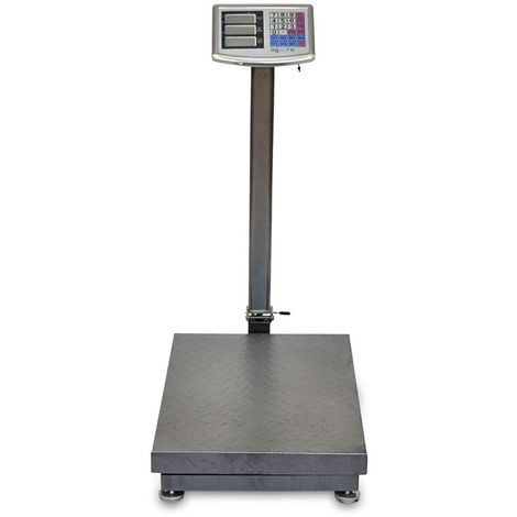 AgoraDirect - Industrial Scale 500kg/100g, Double Sided Digital LCD Display, Foldable, Large Reinforced Steel Platform 45x60cm, 40h Battery Autonomy, Heavy Duty Postal Parcel Scale For Weighing