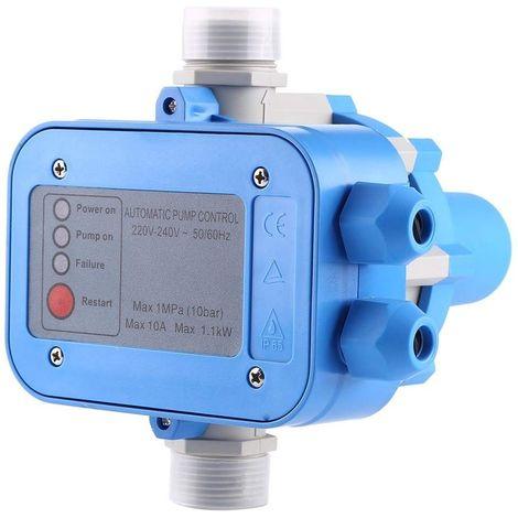 AgoraDirect - Presostato Para La Bomba De Agua 1100W, Max. Voltaje/Corriente 220V/10A, Controlador De Presión 10 Bares, Entrada/Salida 1 Pulgada, Control De Presión Automático