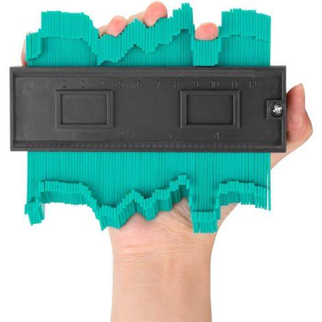 AGPTEK Copieur de profil duplicateur, Copieur de profil duplicateur 12 cm/5 pouces, Outil de duplication des contours, parfait pour les planchers en carreaux, stratifié, bois massif et vinyle