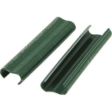Agrafe à grillage vr16 plastifiées vertes 400