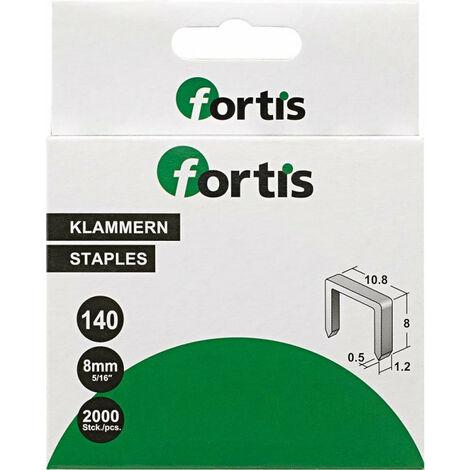 Agrafes 8 mm a 2000 Unités FORTIS