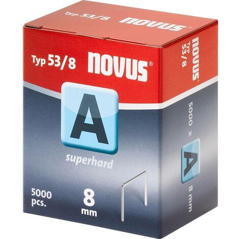 Agrafes à fil fin type 53/8 5000 Pces Novus