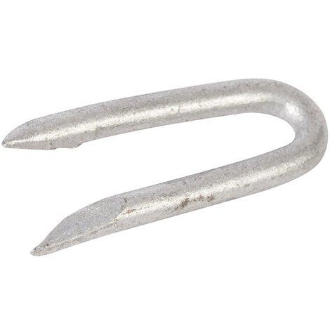 Agrafes acier galvanisé, 500 g - 25 x 2,8 mm