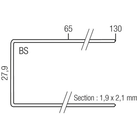 Agrafes BS29 Inox SENCO 130 mm - boite de 1280 - NS30010
