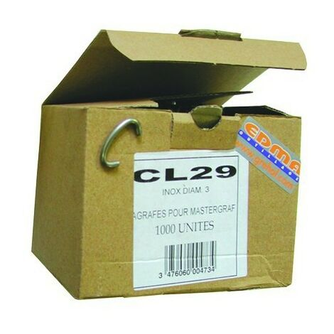 AGRAFES CL 29 - Inox AISI 304 - 100