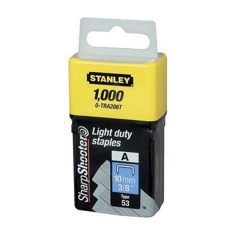 Agrafes de type A 10 mm 1000 pièces. Stanley by Black & Decker 1-TRA206T 1 pc(s)