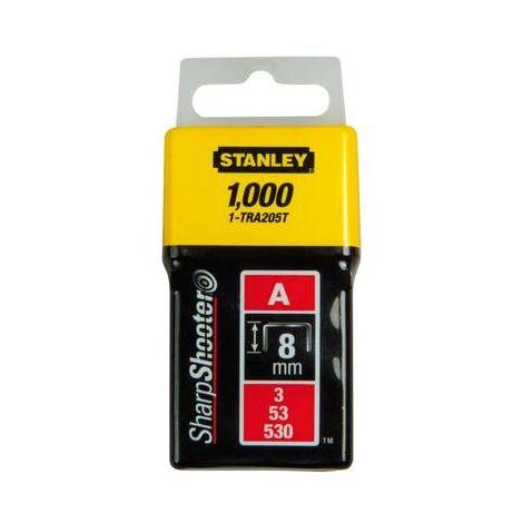 Agrafes de type A 8mm 1000 pièces. Stanley by Black & Decker 1-TRA205T 1 pc(s)