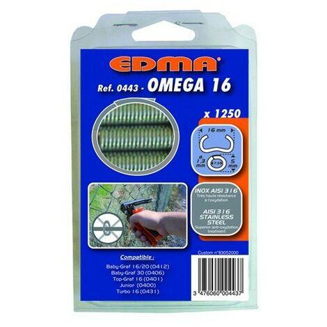 AGRAFES OMEGA 16 - Inox AISI 316- 1250