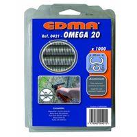 Agrafes OMEGA 20 aluminium x 1000 EDMA