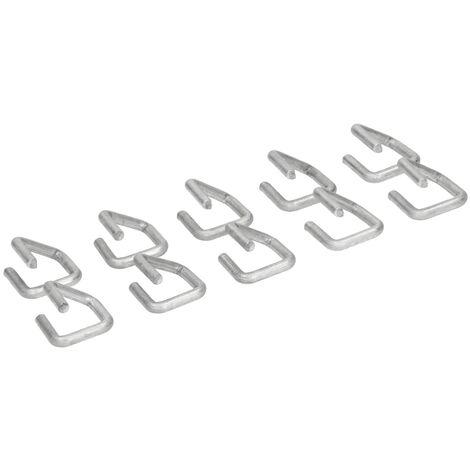 Agrafes pour gabion anneaux de fil fixation filets zinc-aluminium 2x2 cm 10 pcs