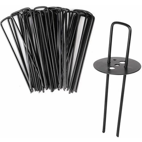 Agrafes pour toiles de paillage noir avec Joints 150 * 30 * 3.5mm, 25 PCS