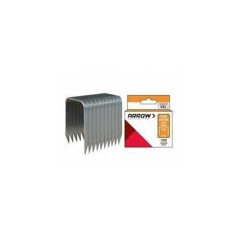 Agrafes t75 boîte de 1000 agrafes longueur pattes:16 mm