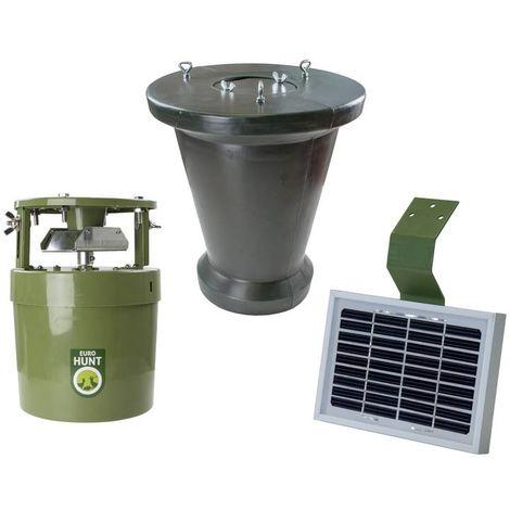 Agrainoir avec distributeur alimentaire automatique - Light 6V - + réservoir de stockage + panneau solaire