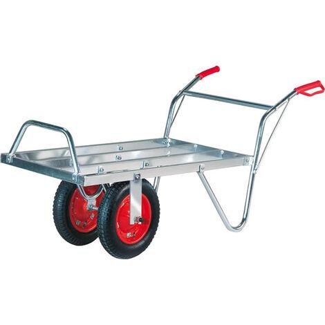 AgriShop Chariot suisse en aluminium, capacité de 100 kg