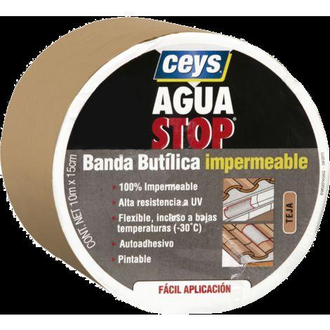AGUA STOP BANDA BUTILICA IMPERMEABLE CEYS (10 CM X 10 M, TEJA)
