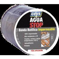 AGUA STOP BANDA BUTILICA IMPERMEABLE CEYS (15 CM X 10 M, GRIS)