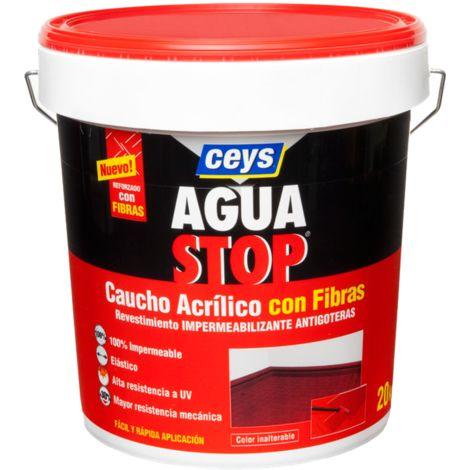 AGUASTOP CAUCHO FIBRAS GRIS 20 KG