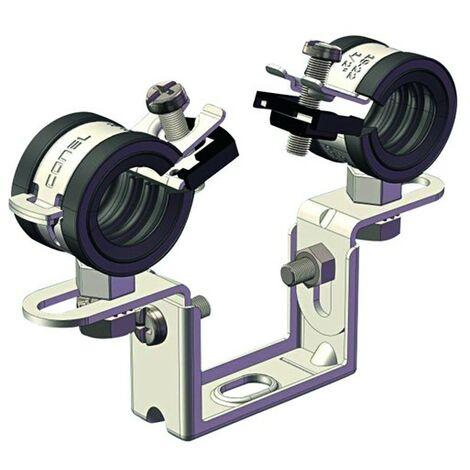 AHT Zeitspar-Doppelrohrschelle für Stahl-, Metall- und Abschlussrohre