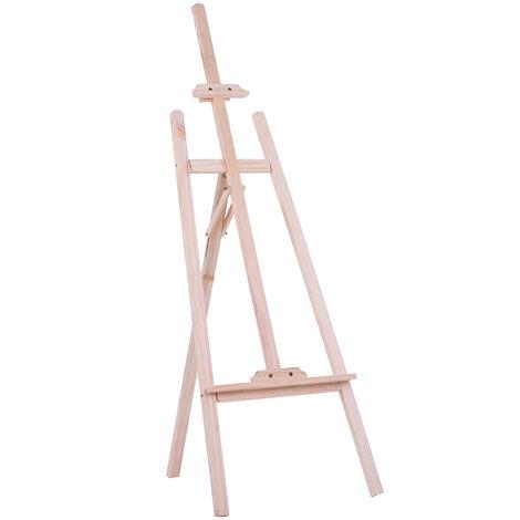 Aibecy 150Cm / 59 Pouces Durable Art Artiste Bois En Bois Chevalet Sketch Dessin Support Nouvelle-Zelande Pin Pour La Peinture Esquisser Exposition Et Salon