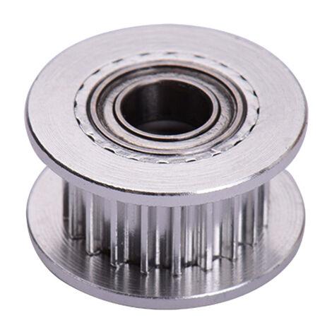 Aibecy 2GT Idle poulie engrenage roue 20 dents 5 mm Bore en aluminium pour Timing large Printers 3D Ceinture, Argent, 1pc