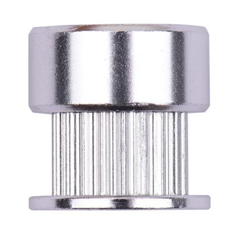 Aibecy 2GT synchrone poulie la roue dentee 20 dents de l'Bore en aluminium pour Timing large Printers 3D Ceinture, Argent, 1pc