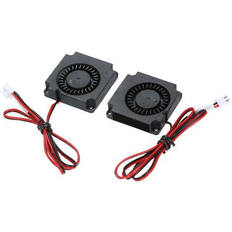 Aibecy Accessoires pour imprimante 3D Ventilateur a deux fils avec borne 24V 0.09A 2 packs
