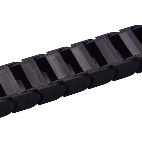 Aibecy Chaine Drag Cable Du Cable De Remorquage Chaine De Transmission 10 * 20 Mm Interieur 1M / Longueur 3.3Ft Pour Machine Cnc Imprimante 3D
