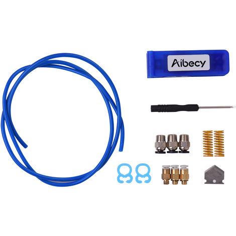 Aibecy Cutter Tube Et Ptfe Id Tube De 2 Mm Od 4 Mm Tubes De Tuyaux Kit Pneumatique Raccords Pour Ressorts Accessoires Imprimante 3D