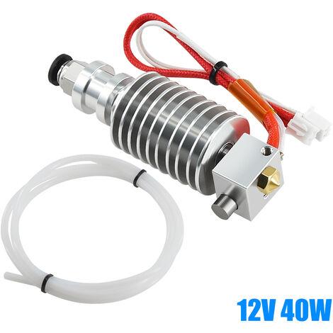 Aibecy I3 Mega Hotend Kit Extrudeur Extrusion Tete Avec 0.4Mm Buse 100K Ohm Thermistance Ptfe Tube De Chauffage De Fil Compatible Avec Anycubic Mega Series Imprimante 3D, 12V 40W