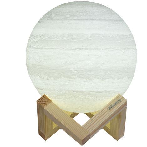 Aibecy, lampara de Jupiter impresa en 3D, luz de noche LED, 15cm/5.9in