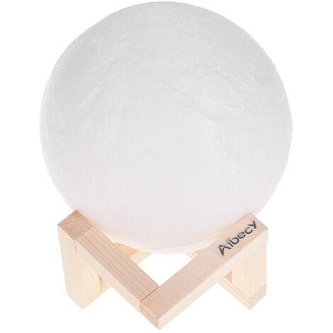 Aibecy Lune Lampe LED 3D Print Night Light 16 couleurs chatoyantes Diametre 20cm / 7.9in