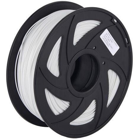 Aibecy Normal Pla 3D Imprimante Filament Consommables D'Impression Ecologique 1.75Mm Diametre 1 Kg (2,2 Lb) Spool Precision Dimensionnelle +/- 0,05 Mm, Blanc