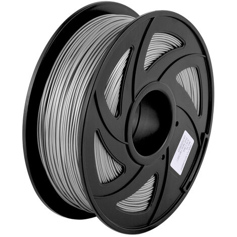 Aibecy Normal Pla 3D Imprimante Filament Consommables D'Impression Ecologique 1.75Mm Diametre 1 Kg (2,2 Lb) Spool Precision Dimensionnelle +/- 0,05 Mm, Gris