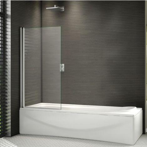 Aica 800x1400mm 180º Pivot Shower Bath Safety Glass Screen Door Panel