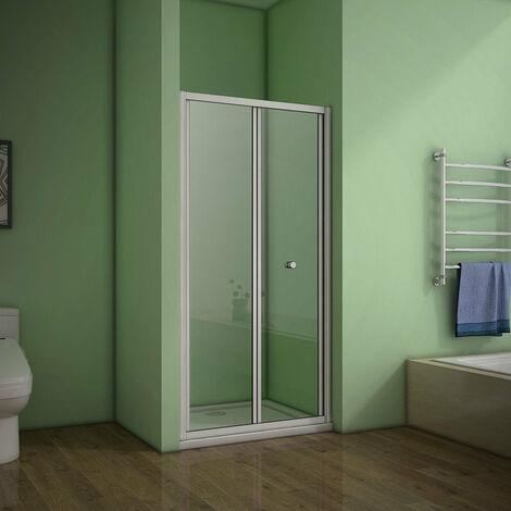 AICA Bi-fold shower doors Eletro off white