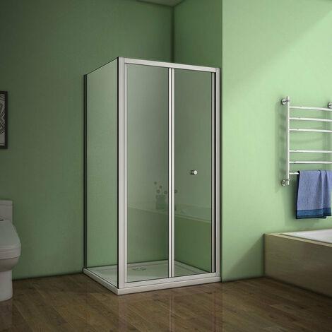 AICA Bi-fold shower Enclosure Eletro off white