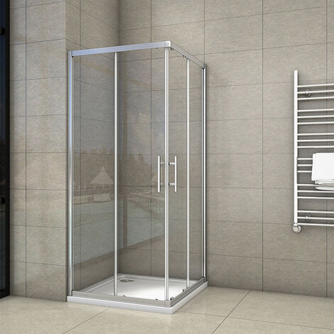AICA Corner Entry Shower Enclosure sliding shower cubicle with shower tray
