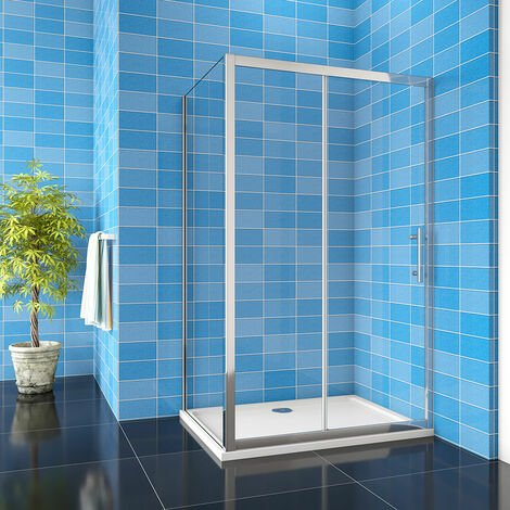 Aica Easy Clean Glass 8mm Sliding Door Shower Enclosure Side Panel Tray Optional