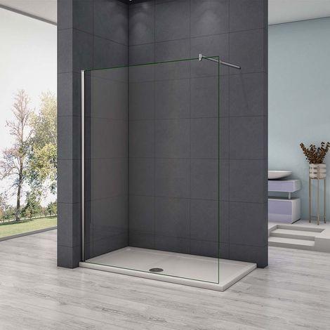 AICA paroi de douche 50-160x200cm en 8mm verre anticalcaire paroi latérale douche italienne